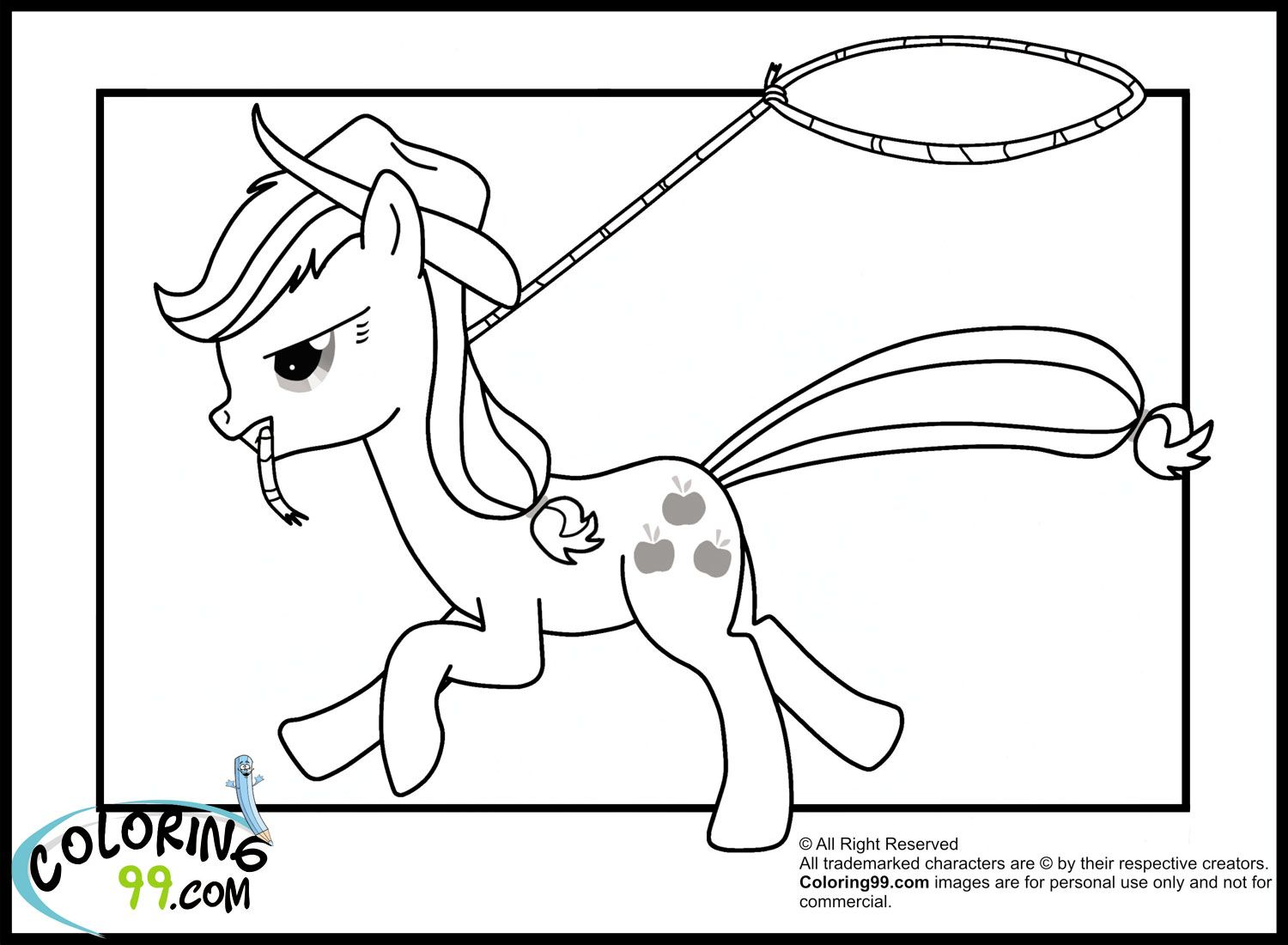 my-little-pony-applejack-cowgirl-coloring-pages.jpg (1500×1100 ...