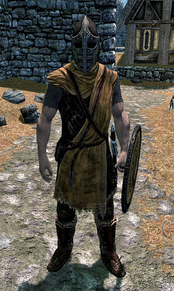 A Whiterun Guard From Skyrim This Game Takes Place During The Medieval Times It Has Dragons And Magic Skyrim Skyrim Cosplay Skyrim Guard Quotes