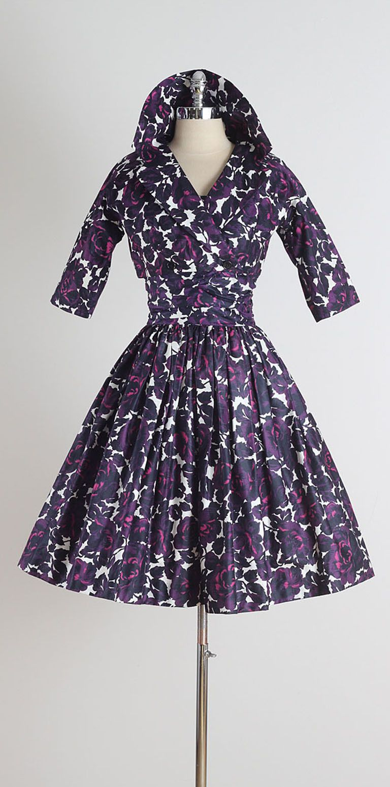1950s Jonathan Logan Polished Cotton Dress with Jacket | Pinterest ...