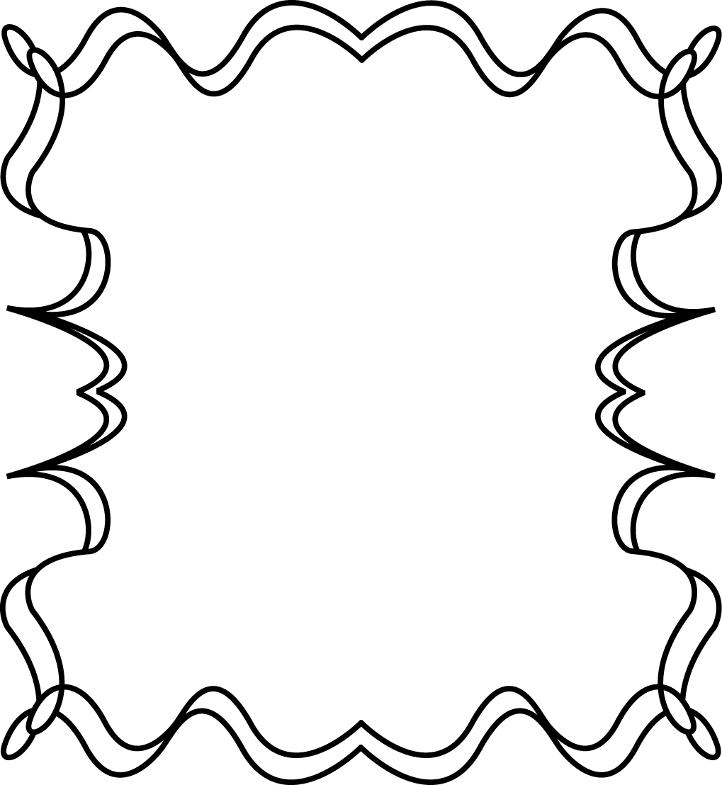 Little loops double page border free page borders - Free Printable Clip Art Borders Full Page Squiggly Zig Zag Border Frame Full Page