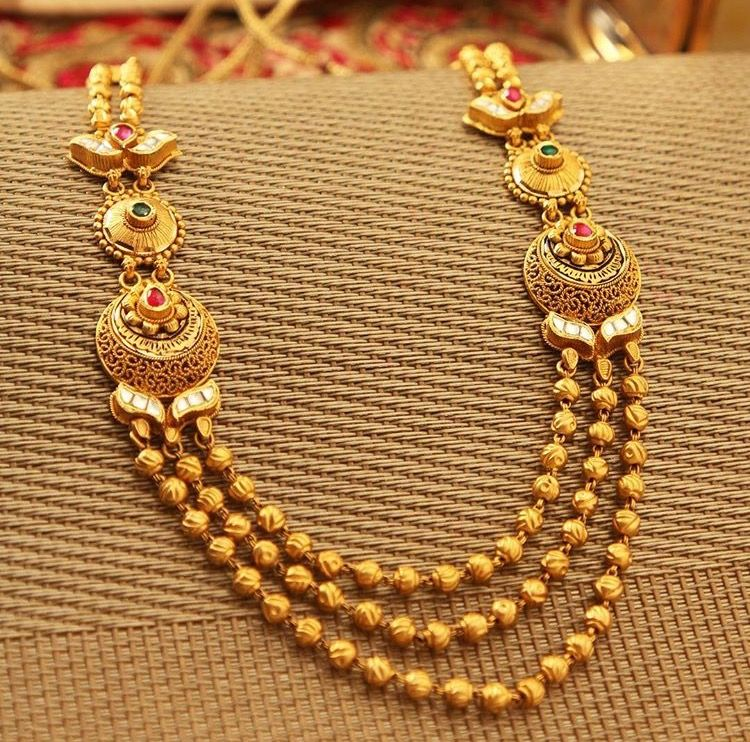 Manubhai Jewellers Gold Fashion Necklace Bridal Gold Jewellery Gold Jewellery Design Necklaces