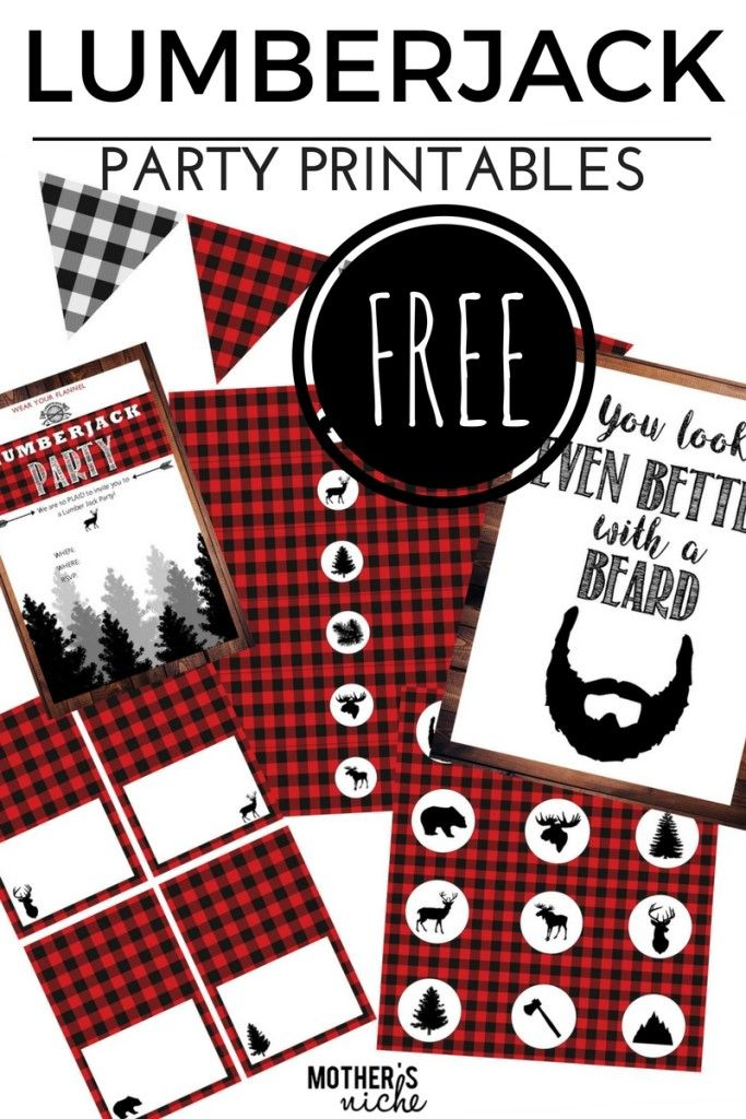 Photo of LUMBER JACK PARTY- with all the FREE PARTY PRINTABLES you need