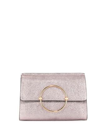 Metallic+Ring+Flap+Clutch+Bag+by+Milly+at+Neiman+Marcus+Last+Call ... e207dc5330381