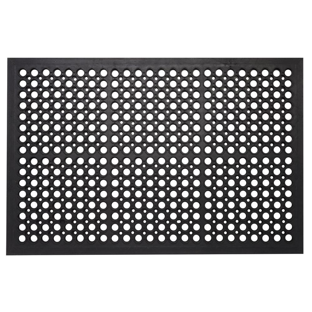 Envelor Commercial Rubber Mat Collection Durable Anti Fatigue 36 In X 60 In Restaurant Bar Drainage Rubber Floor Mat Black Rubber Floor Mats Rubber Flooring Floor Mats