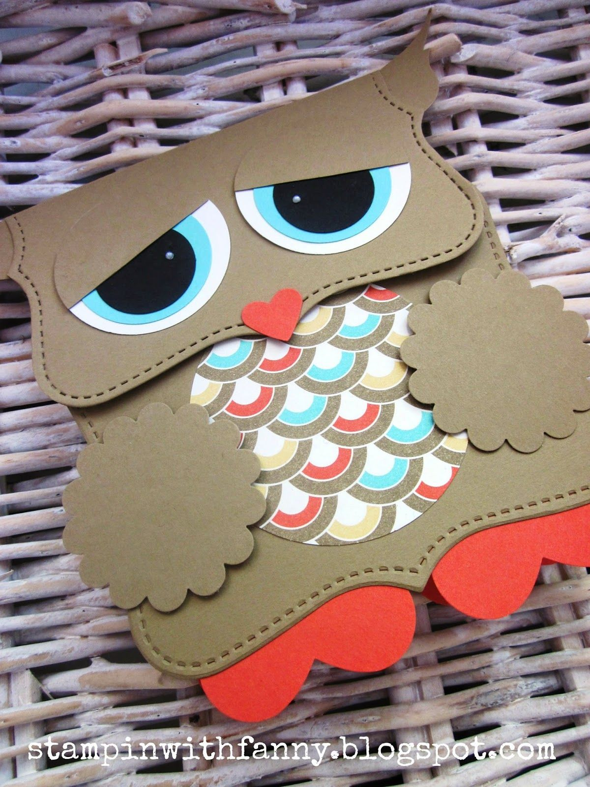 stampin with fanny: Project # 1: owls packaging with Top Note