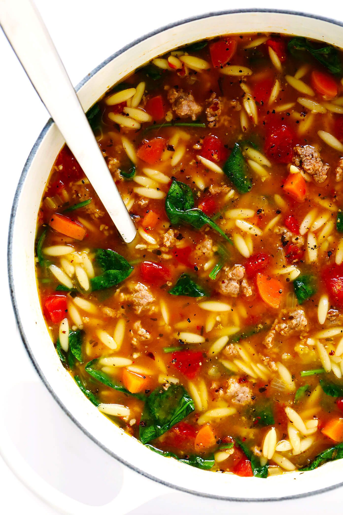 Italian Sausage and Orzo Soup | Gimme Some Oven