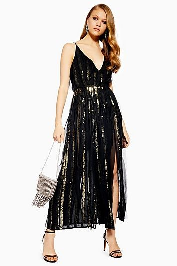 55bcf9e8c180 Sequin Chiffon Maxi Dress in 2019 | Products | Chiffon maxi dress ...