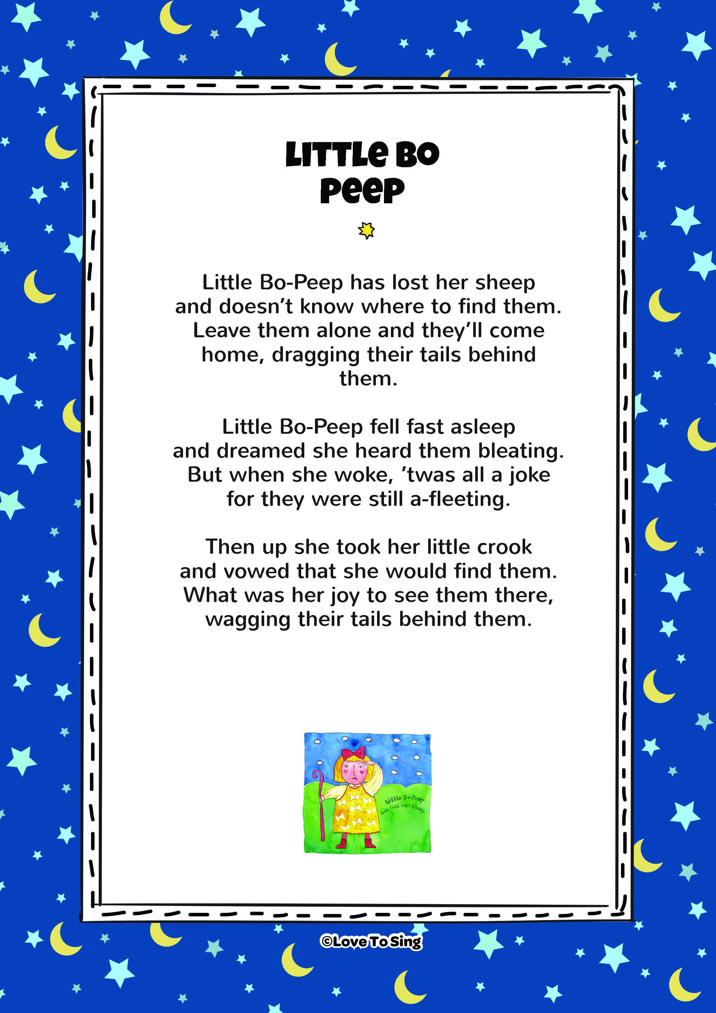 This Por Kids Video Song Little Bo P With Free Lyrics Fun Activities