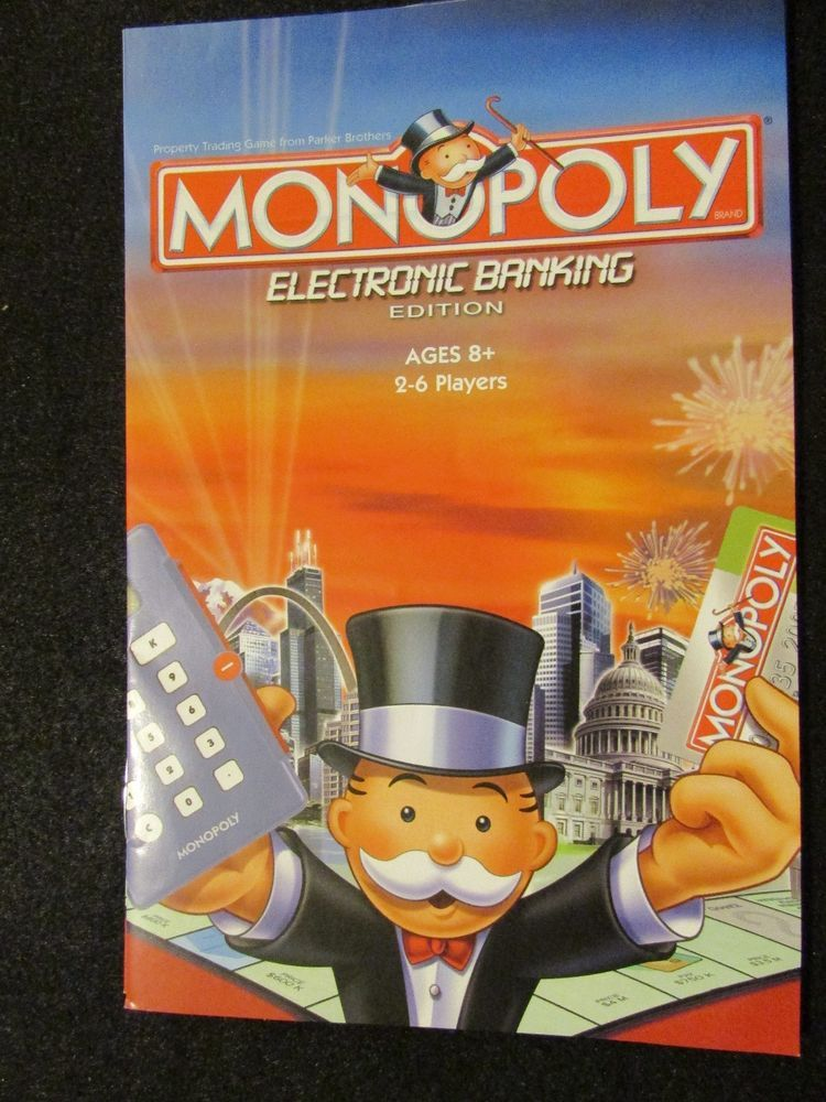 2007 Monopoly Electronic Banking Edition Rules Directions