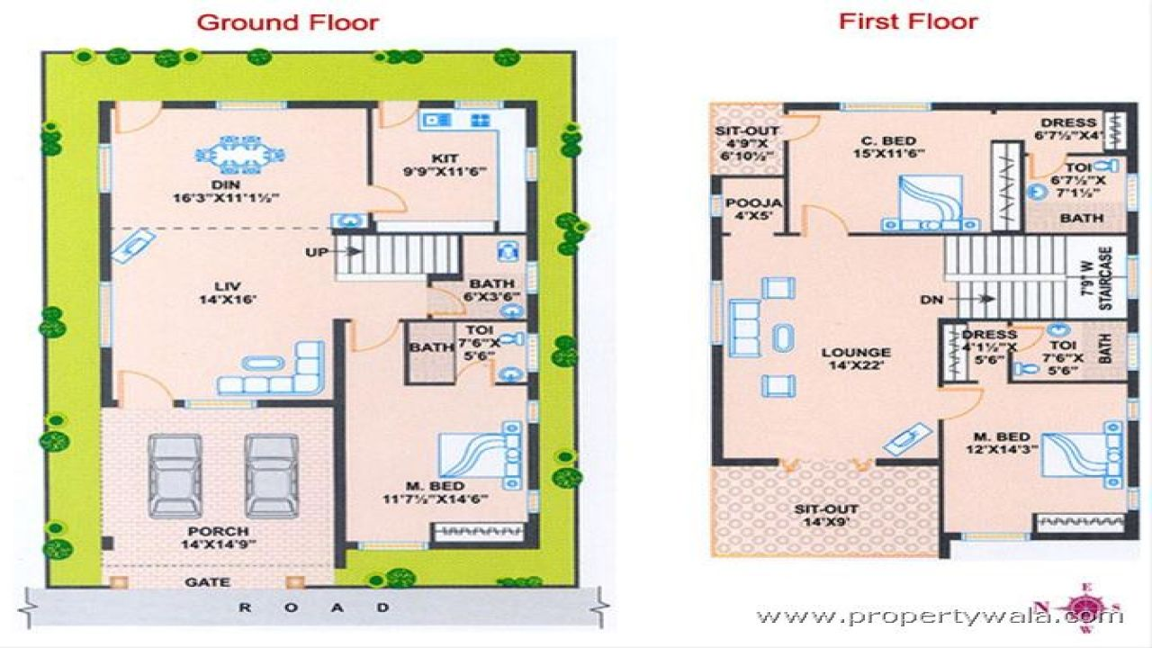 West Facing House Plans As Per Vastu In Kerala West Facing House North Facing House Indian House Plans