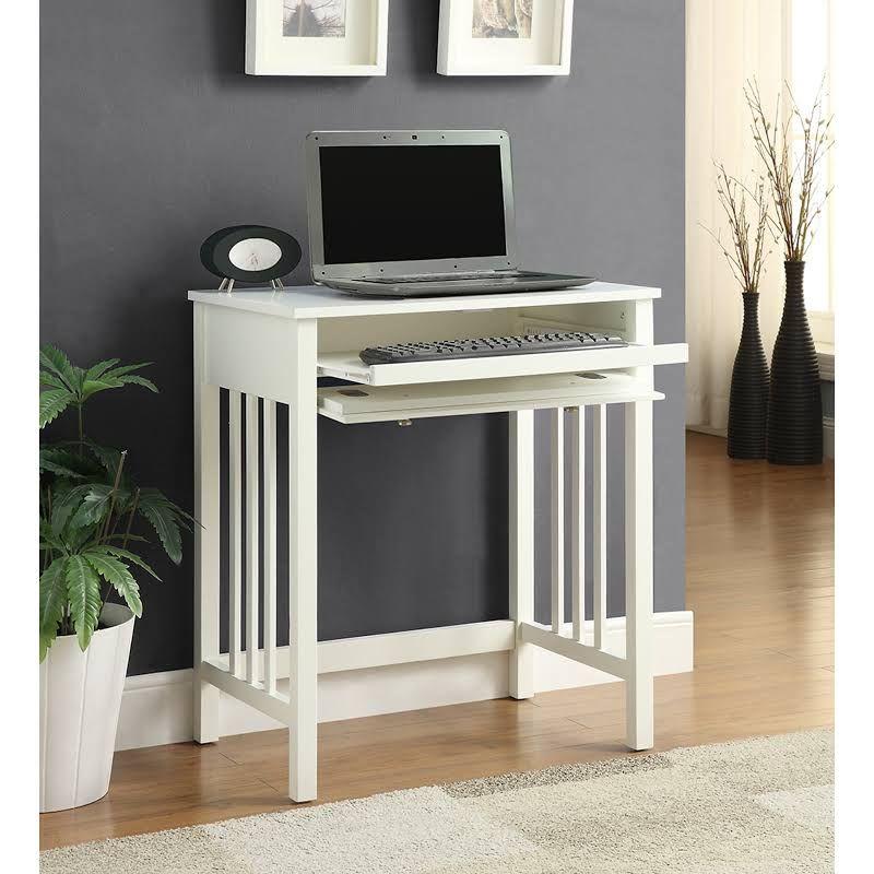 36 Inch Wide White Computer Desk