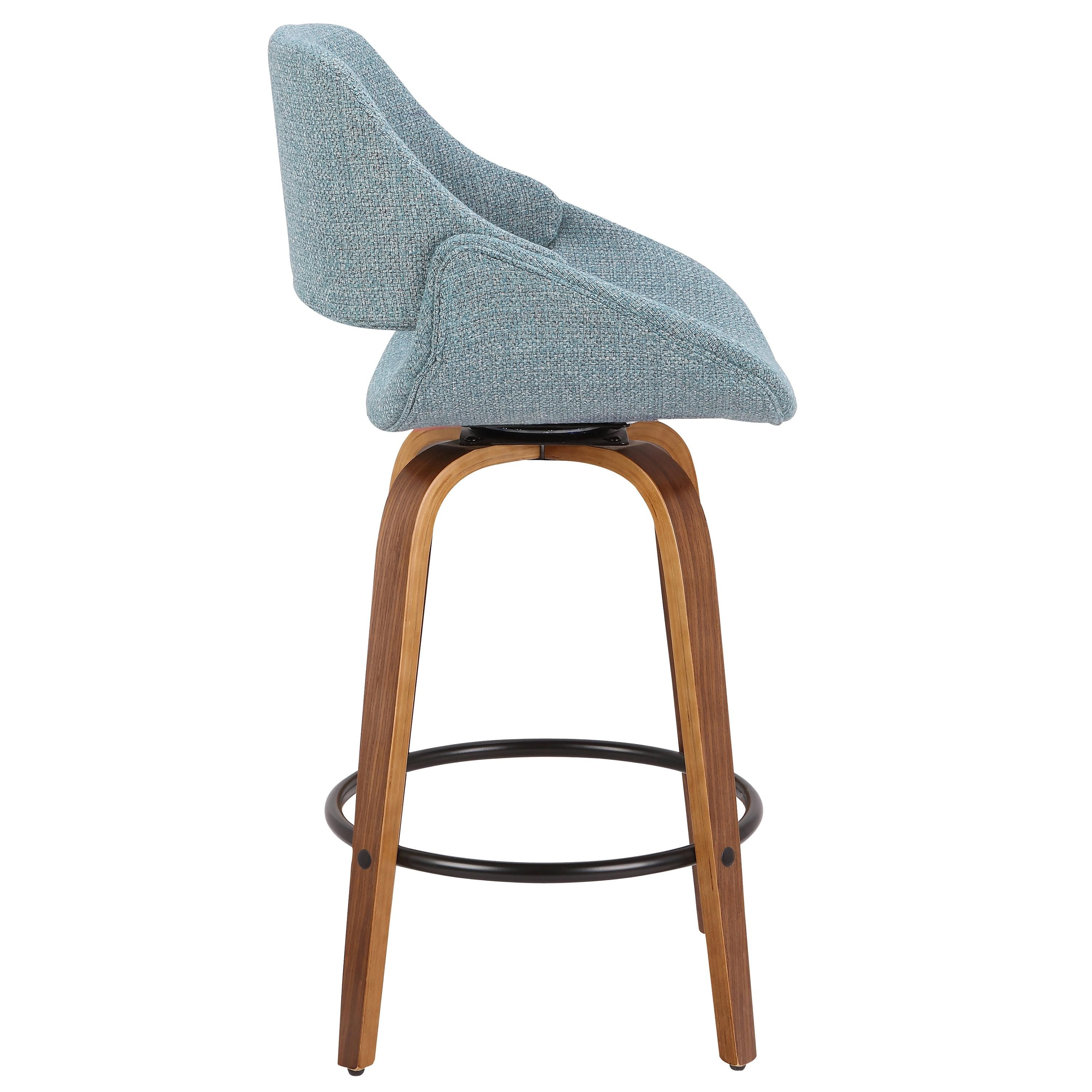 Tremendous Blue And Brown 26 Inch Counter Height Stool Set Of 2 Fabrico Cjindustries Chair Design For Home Cjindustriesco