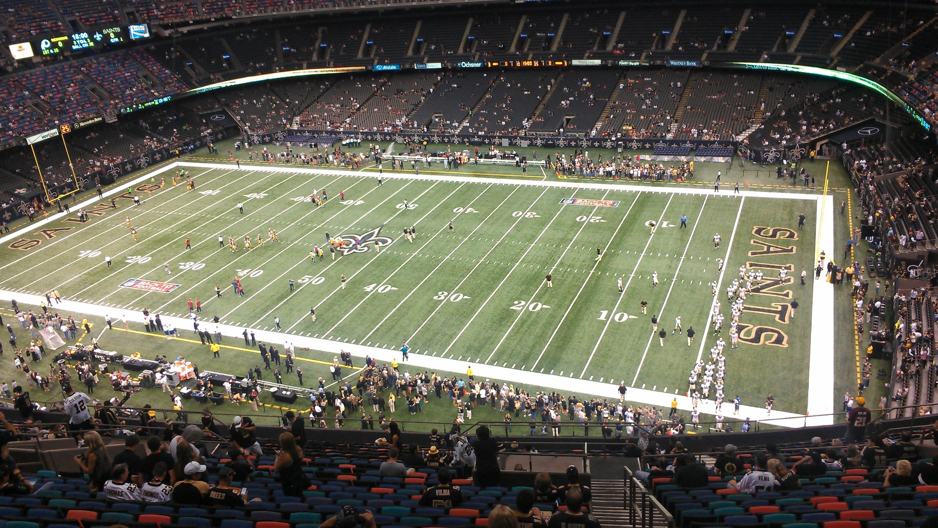 Inside the Mercedes Benz Superdome home of the New Orleans Saints