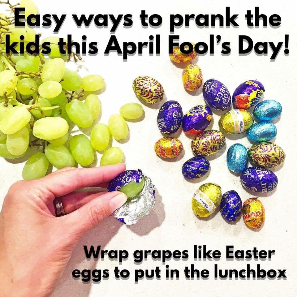 How to make april fools day chocolate bunny filled with veggies - I D Be Extatic If I Got Easter Egg Grapes I Hate Chocolate Easy Ways To Prank The Kids This April Fool S Day