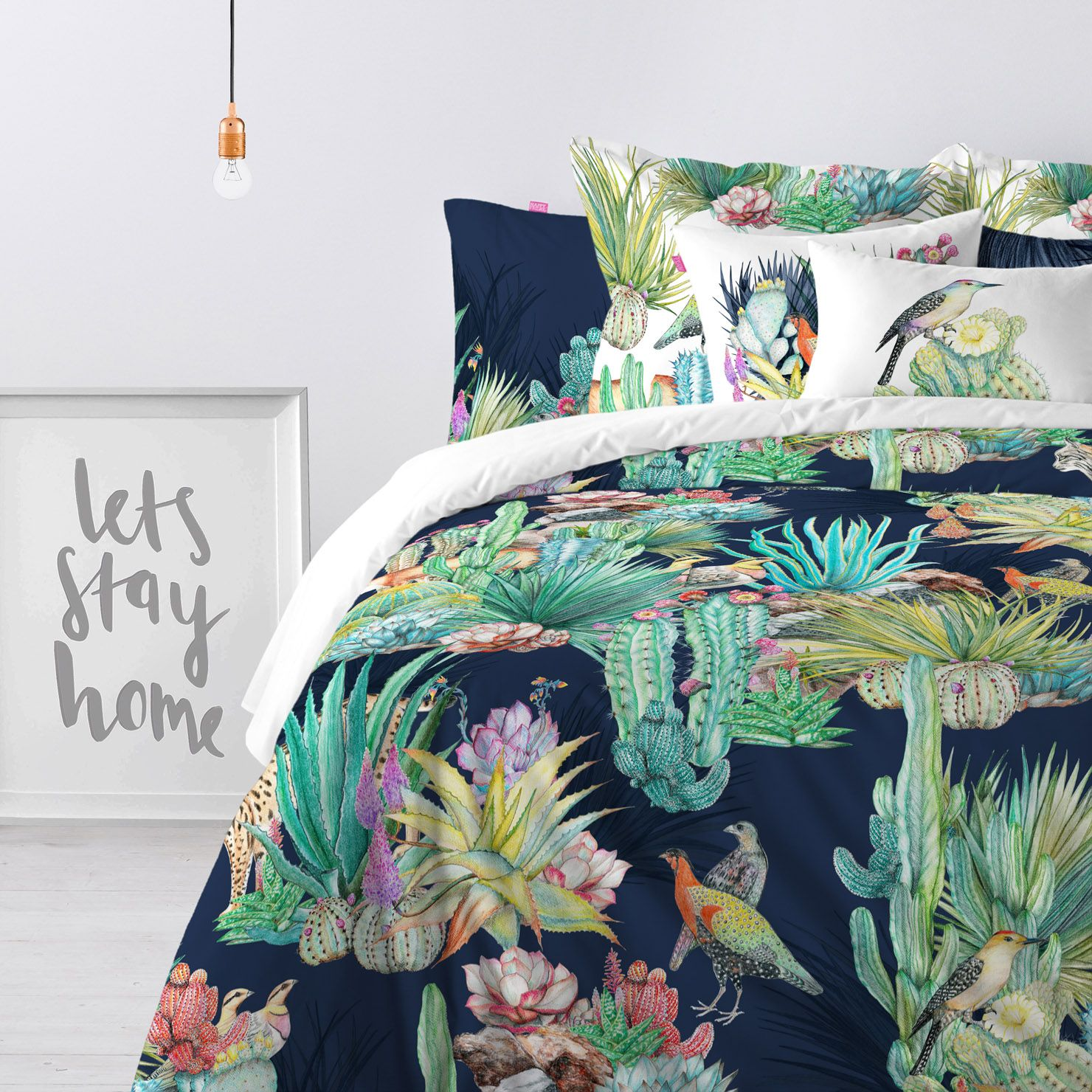 Happy Friday Bettwäsche Happy Friday Cactus King Duvet Cover House Stuff Bedroom Decor