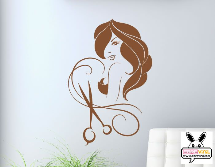 vinilos decorativo para paredes de peluqueras