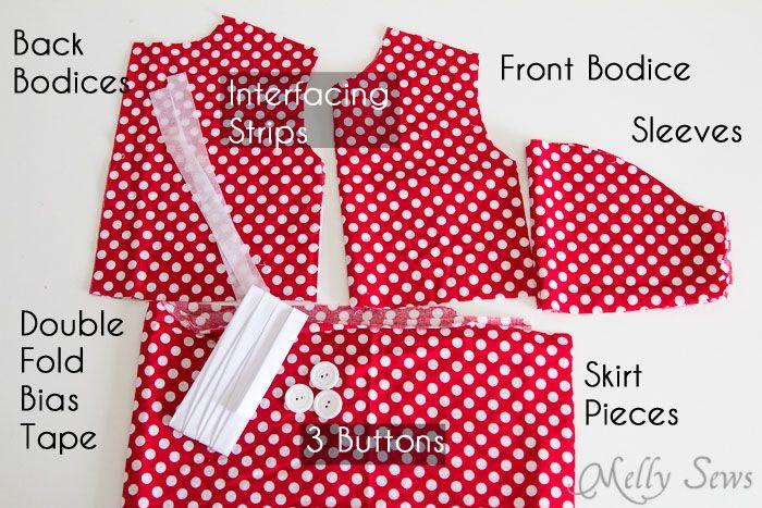 Free Girls Dress Pattern - Minnie Mouse Birthday | Vestidos de niñas ...