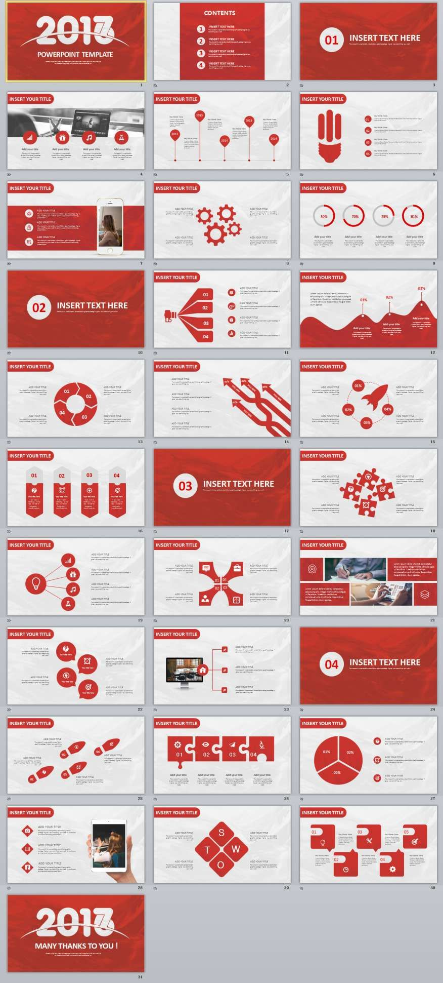 red black business design powerpoint templates | 2018 business, Powerpoint templates