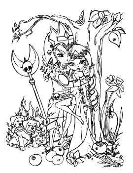 Hades And Persephone By Jadedragonne Coloring Pages Cute