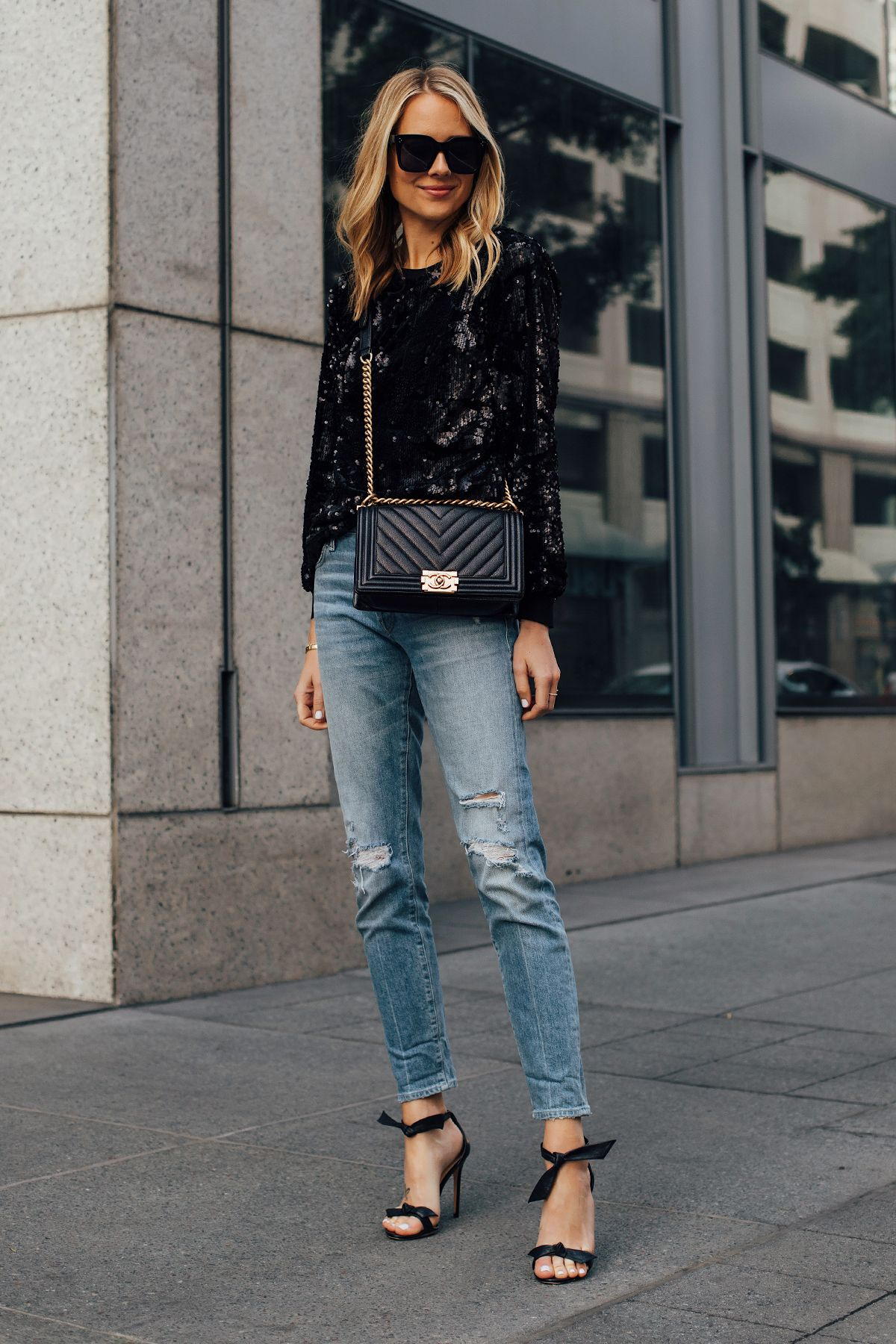 Six Sequin Outfit Ideas for New Year's Eve Style Holiday