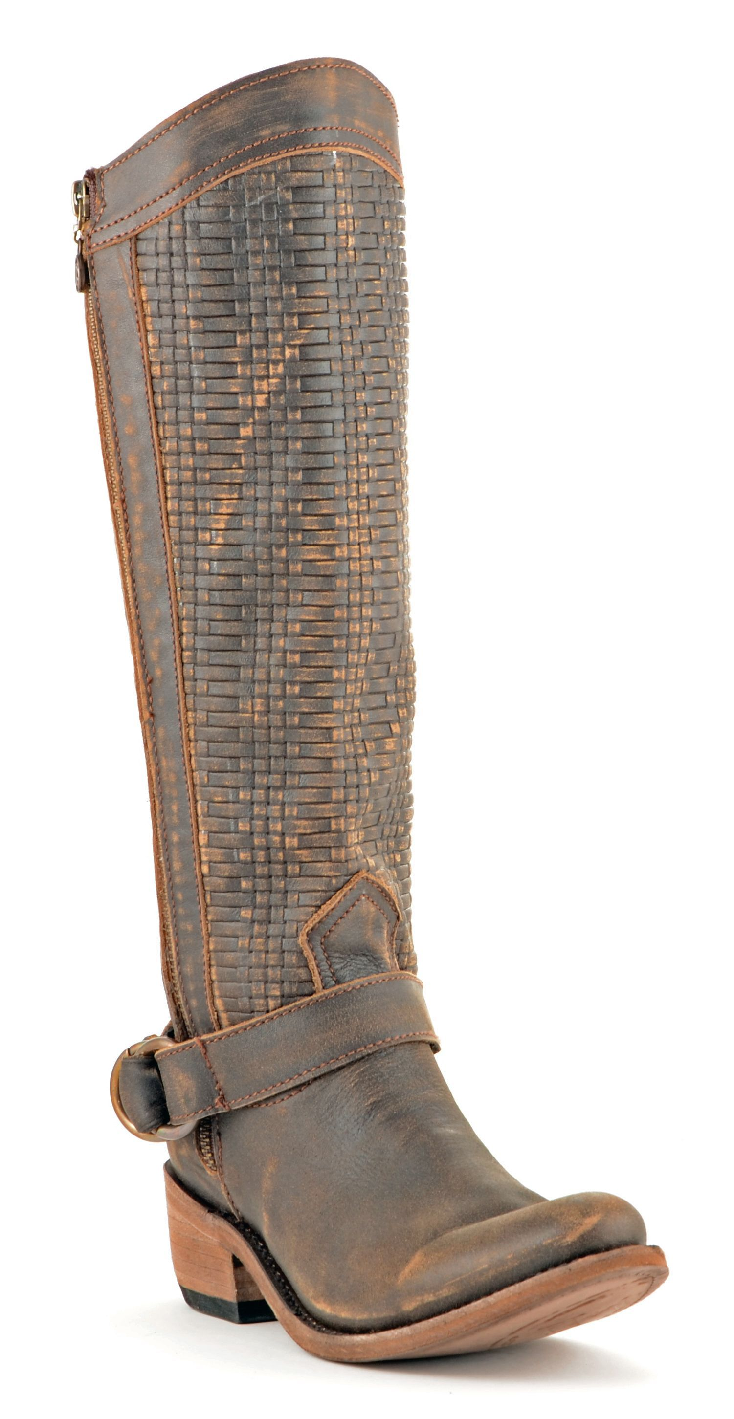 Ariat Ladies Yukon Brown Round Up Wide Square Toe Performance Boots 10016317