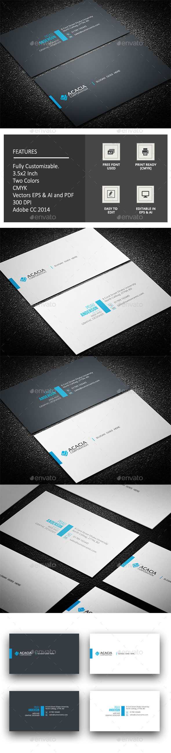 Kala Business Card Template Vector EPS, AI Illustrator | Tarjetas ...