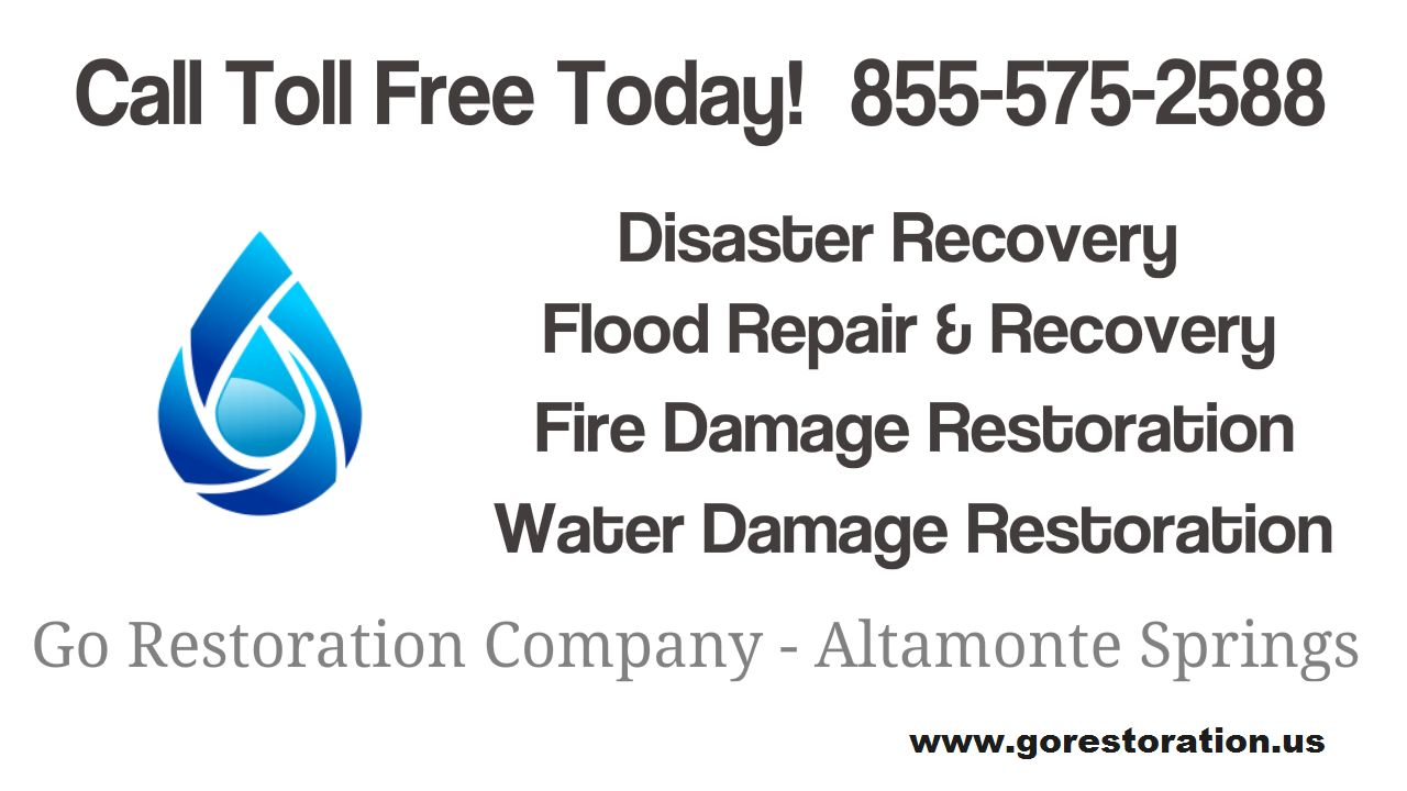 Call 855 575 2588 For Water Damage Restoration In Altamonte