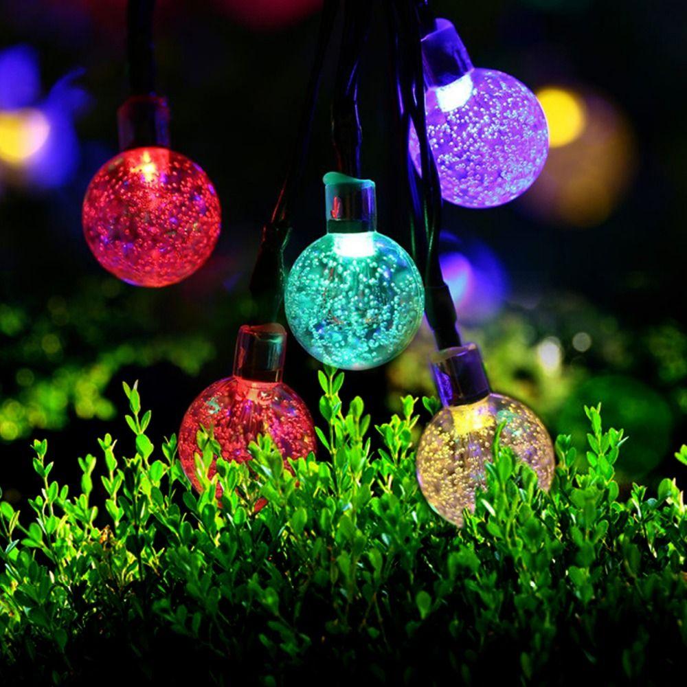 5m 30 led ball solar string light garden led christmas lights wedding decor garland water outdoor - Solar Garden Christmas Decorations