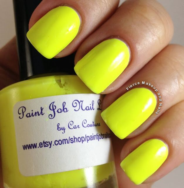 Paint Job Nail Lacquer Antifreeze over white