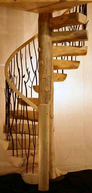 Best Log Cast Iron Spiral Stairs Stair Gallery Wood 400 x 300