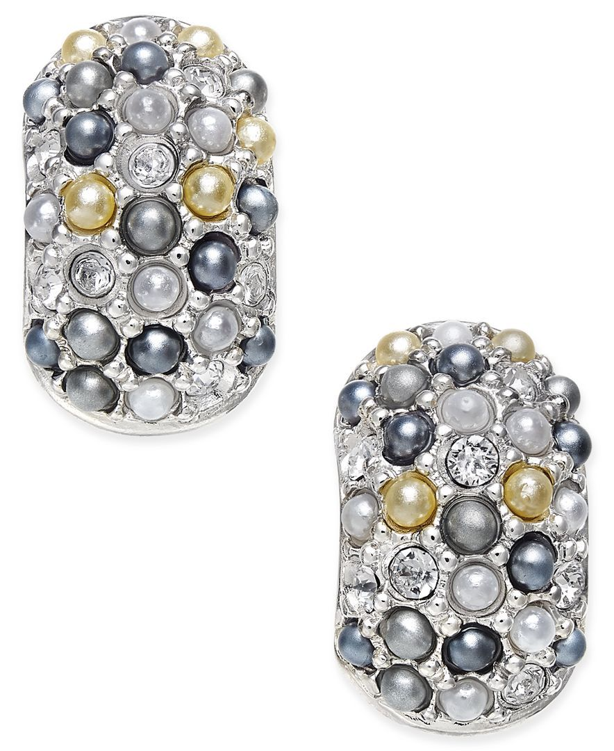 Erwin Pearl Atelier For Charter Club Silvertone Multibead Huggy Hoop  Earrings, Only At Macy's  Jewelry & Watches  Macy's