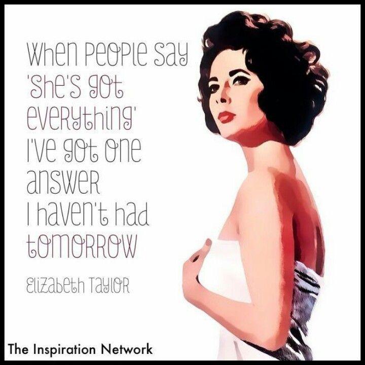 Elizabeth Taylor   Elizabeth taylor quotes, Networking ...