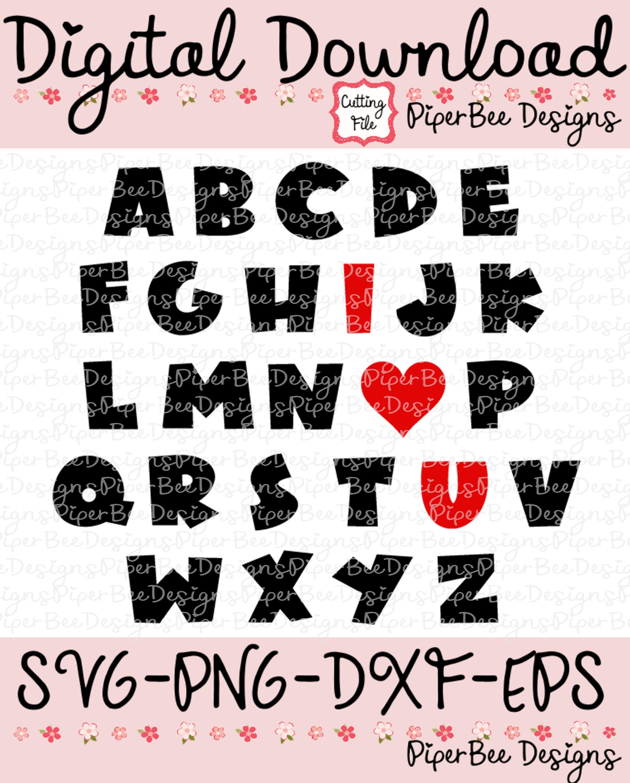 Download ABC I Love You SVG, ABC svg, Valentine's Day svg ...