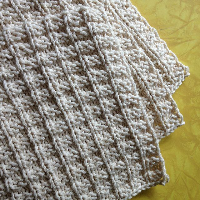 Dishcloth In Spanish: Free Double Bump Dishcloth Pattern