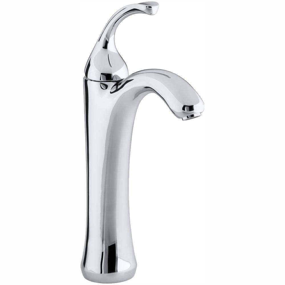 Kohler Forte Single Hole Single Handle Mid Arc Bathroom Faucet In