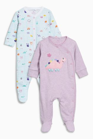 NEXT 4 Gorgeous Baby Girl Sleepsuits /'My First Wardrobe made with Love/' NWT