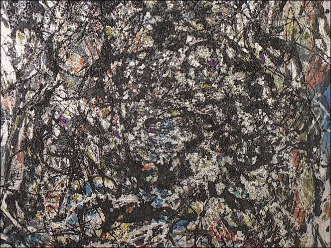 """The Seattle Art Museum is restoring a Jackson Pollock painting from the 1940s titled """"Sea Change,"""" which was altered in the 1970s with a coat of varnish."""