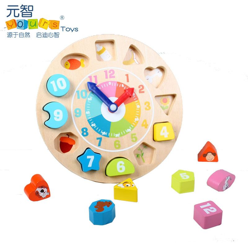 Calendar & Time Baby Clock Toy Cognition Wooden Clock Learning For Kids Children Toys Natural Wood Montessori Clock Learning Time Puzzles And To Have A Long Life.