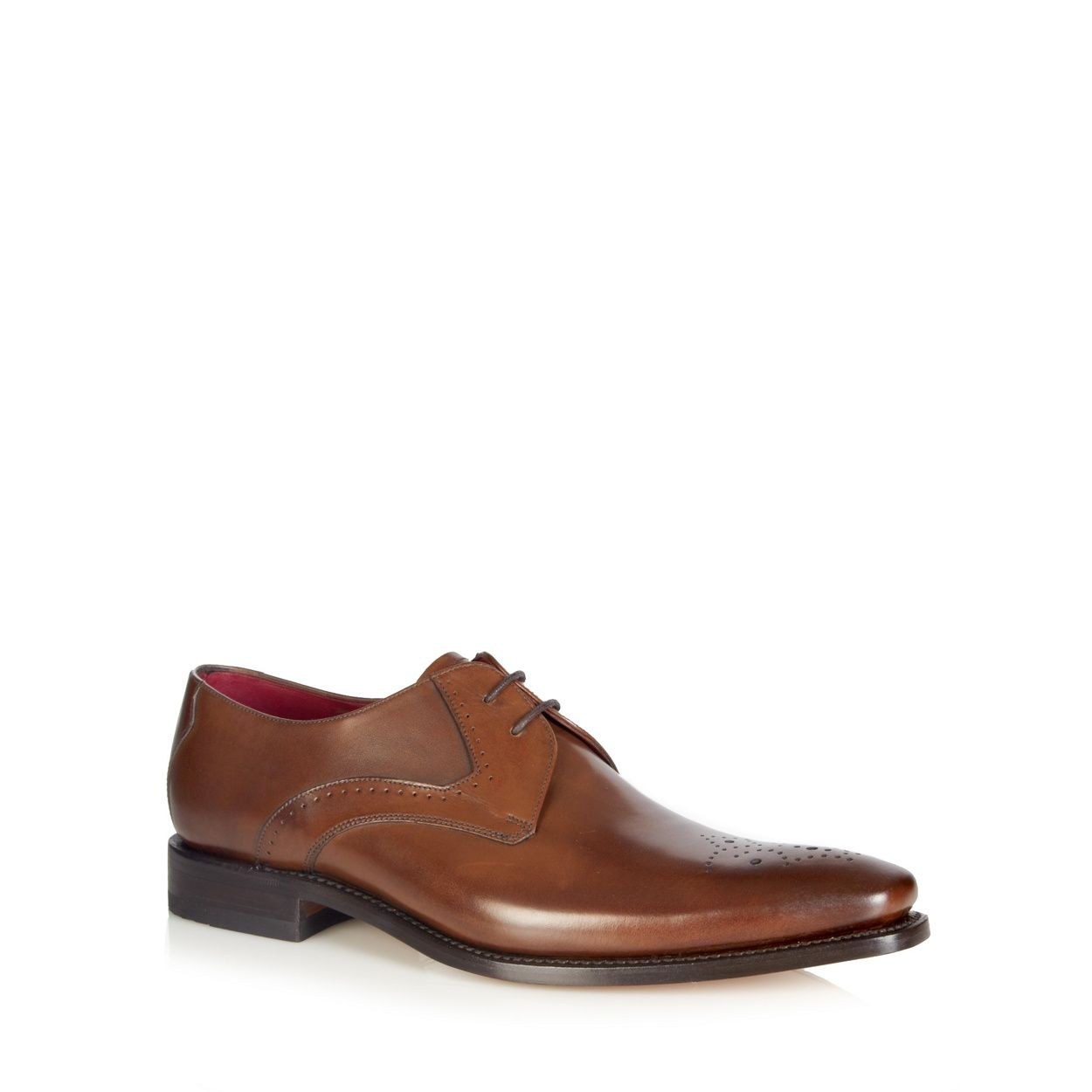 Loake Punch Detail Leather Shoes 10 TAN yKH1a4saqC