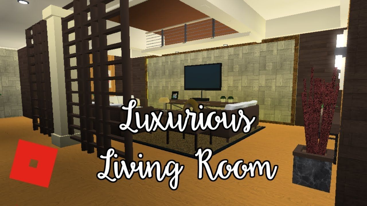 to Bloxburg Luxurious Living Room Speed Build