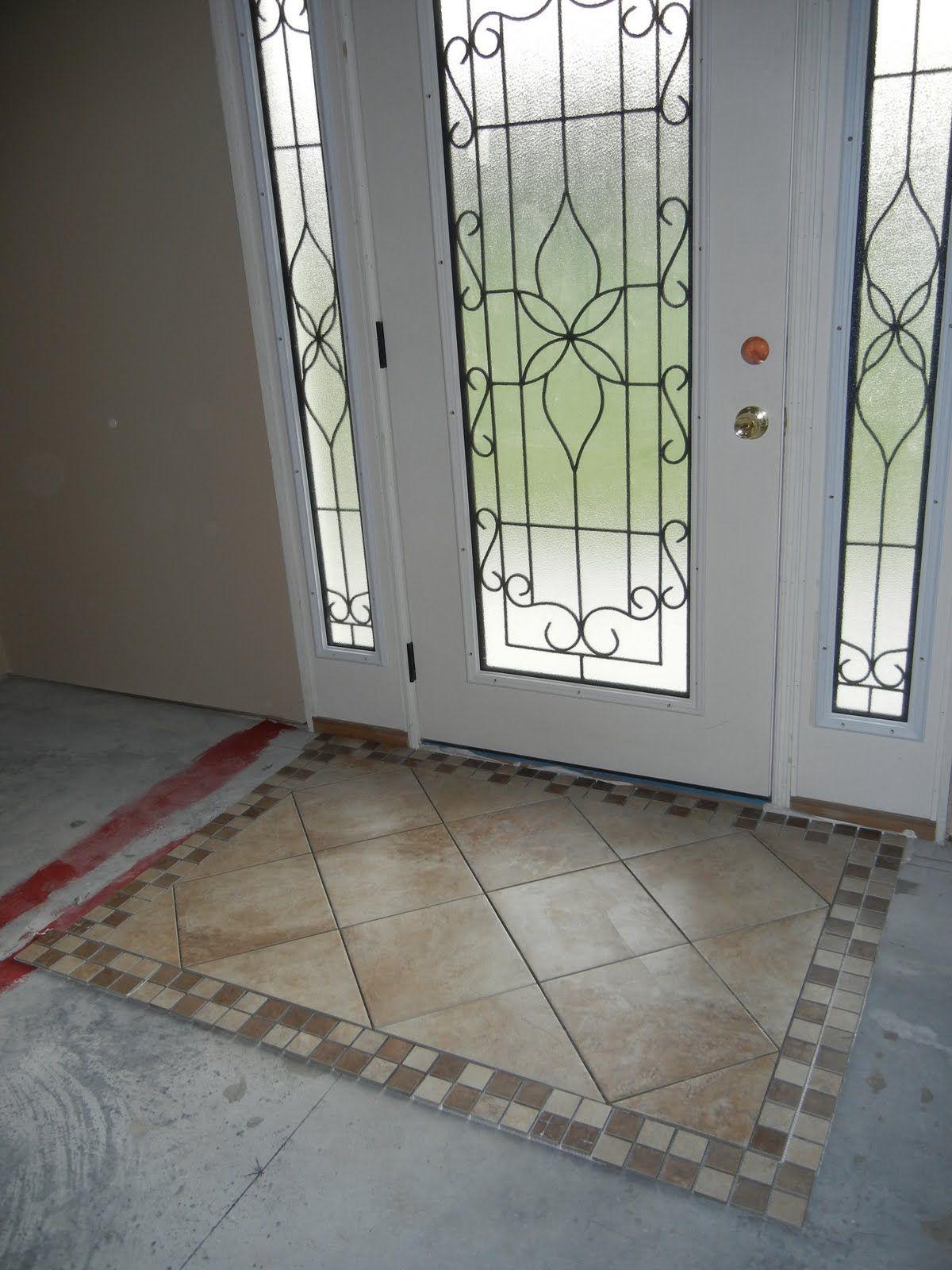 Double Oak Plantation Front Door Foyer Tiled Rug Area