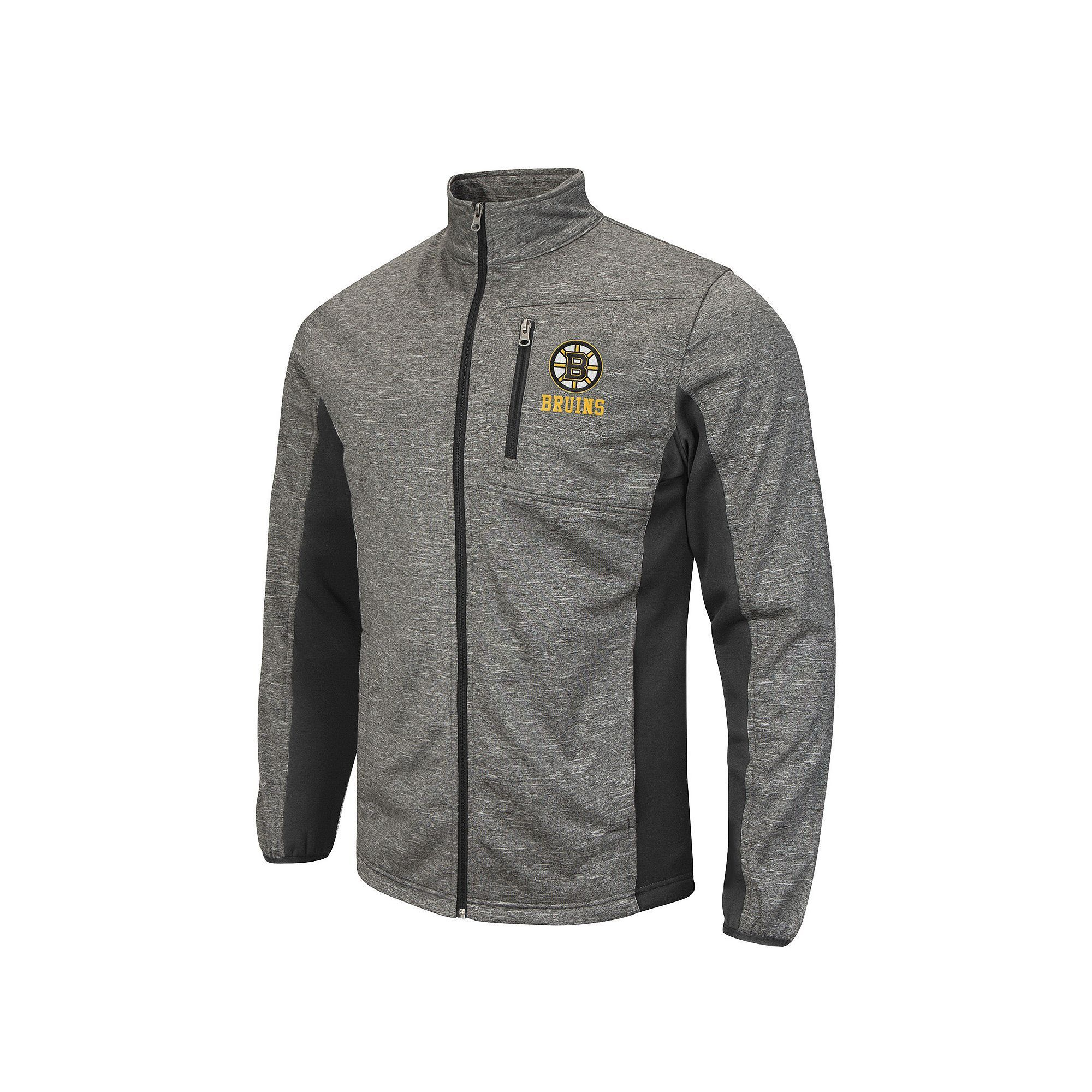 Men's Boston Bruins Space-Dye Full-Zip Fleece Jacket, Size: Small, Grey