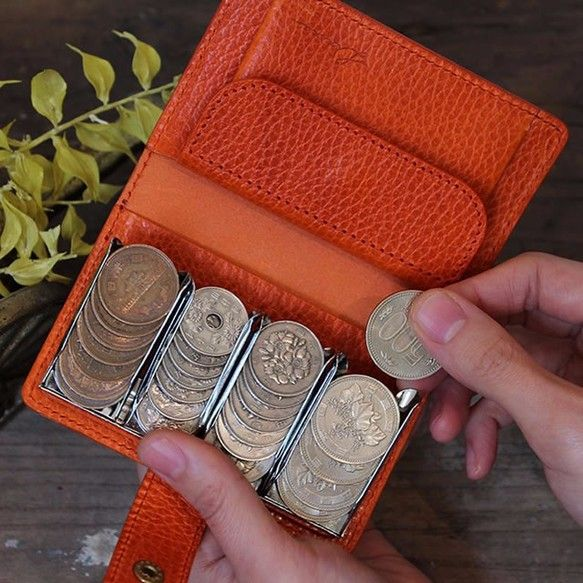 8f57fda3d08fea 小銭達が整列する、超個性的なコインケース!*おつりポケットにマチが ...