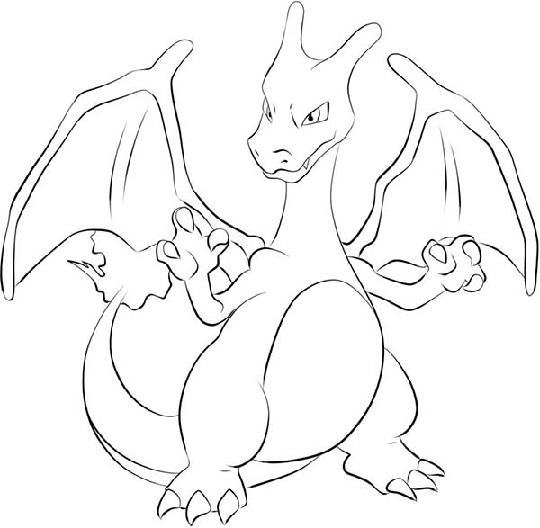 Charizard Get Ready To Fight Coloring Page Netart Pokemon Coloring Pages Pokemon Coloring Cartoon Coloring Pages