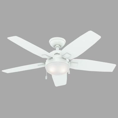 Hunter Antero 46 In Fresh White Indoor Ceiling Fan 59179 The Home Depot Ceiling Fans