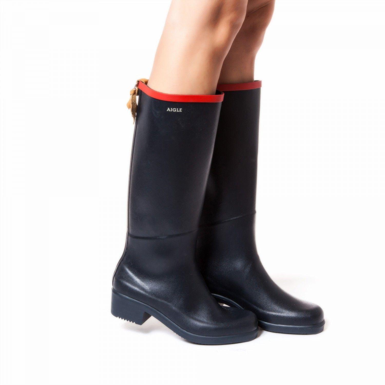 bottes femme marine rouge miss juliette aigle. Black Bedroom Furniture Sets. Home Design Ideas