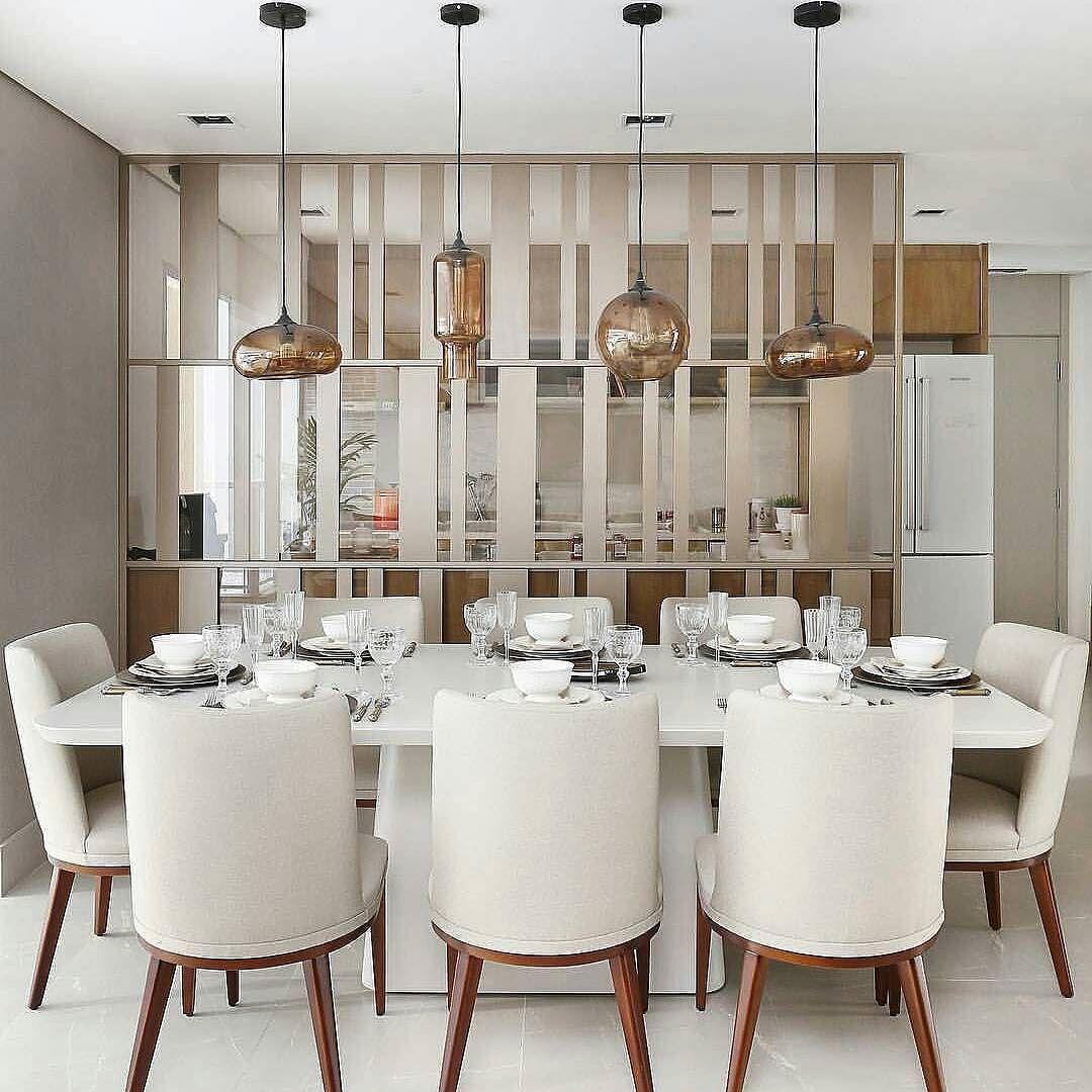 Uma Linda Sala De Jantar Para Essa Sexta Feira Adorei A Divisoria  ~ Divisoria Para Cozinha E Sala