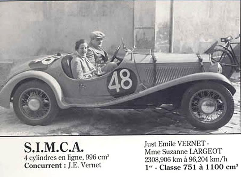 le mans 1937 simca 5 fiat 48 just emile vernet suzanne largeot simca le mans fiat et. Black Bedroom Furniture Sets. Home Design Ideas