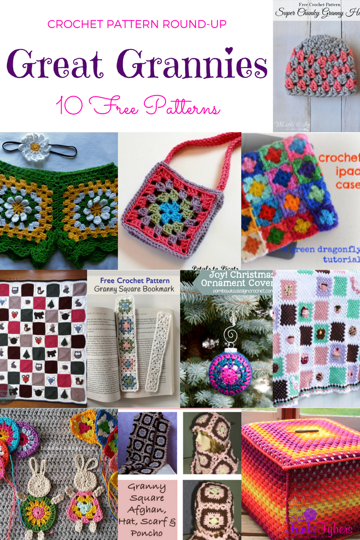 Free Crochet Pattern Round-Up - Great Grannies. This is a pattern ...