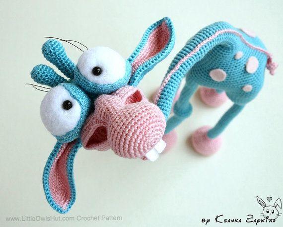 005 Giraffe Crochet Pattern Pdf File Amigurumi Toy With Wire Frame